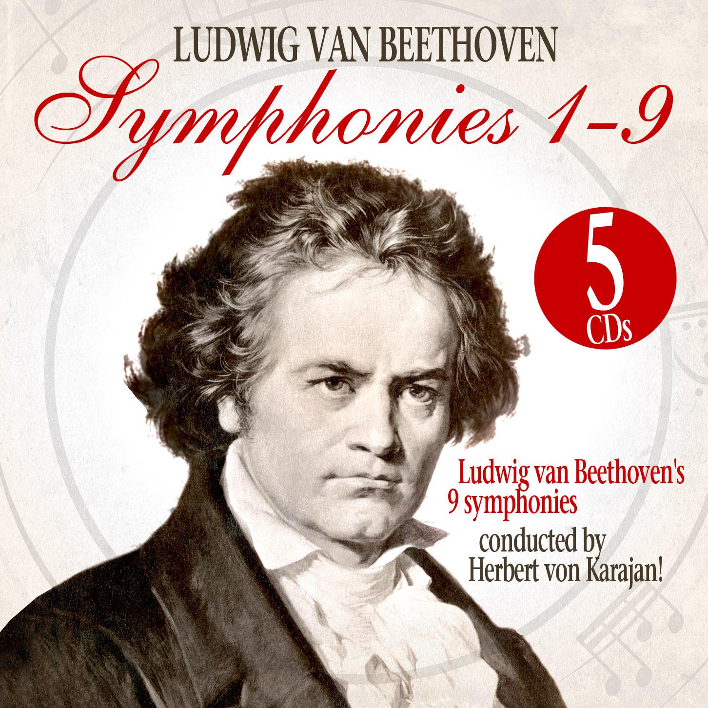 cd beethoven symphonies 1 to 9 from herbert von karajan 5cd box